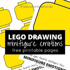 Lego Feelings Chart Lego Minifigure Drawing Emotions Activity For Kids