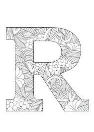 r coloring pages letter page fl by on mandala f for toddlers teens