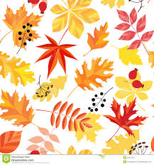 Fall Leaf Pattern Beauteous Autumn Leaves Pattern Stock Vector Illustration Of Yellow 48