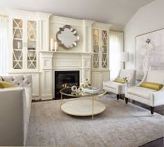 large trendy formal and enclosed dark wood floor living room photo in toronto with white walls