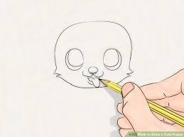 cute puppy drawing. Delighful Cute Image Titled Draw A Cute Puppy Step 16 Throughout Drawing U