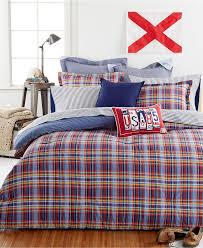 tommy hlfger stanford plad 3pc fullqueen comforter set