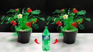 Untuk membuat pot bunga tersebut, kamu membutuhakan cat semprot akrilik. Bottle Craft Ideas Craft With Plastic Bottle Kreasi Botol Bekas Sprite Youtube