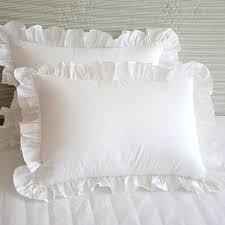 ruffled pillow shams. Delighful Ruffled 2pcs Fashion Elegant Ruffle Pillow Sham Brief Wrinkle Handmade Pillowcase  Bedding Decorative Pillowcases Princess Bedroom In Ruffled Pillow Shams I