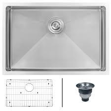 ruvati undermount stainless steel 26 in single bowl kitchen sink 16 gauge