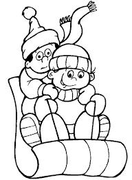 Winter Kleurplaten Animaatjesnl