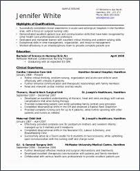 Surgical Nurse Resume Student Nurse
