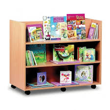 library shelf unit c 3 straight shelves double sided furniture from early years resources uk