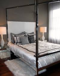 Landon Chrome Bed Hotel Glam Eclectic Beds Houston By High Interior ...