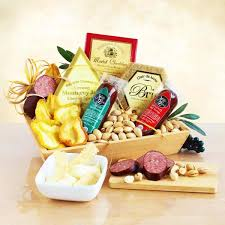 givens pany meat and cheese wooden gift crate