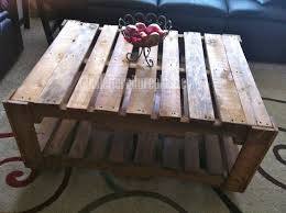 Furniture Diy Pallet Coffee Table Instructions  Rustic Coffee Pallet Coffee Table Plans