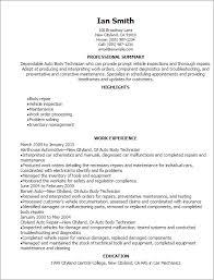 Resume Template Auto Body Technician Resume Example Free Career