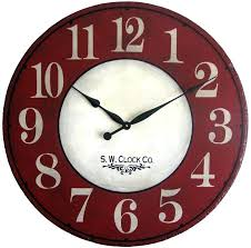 big round wall clocks items similar to inch large wall clock antique style red cream french country big round le rustic on oversized wall clocks india