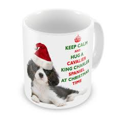 keep calm and hug a cavalier king charles spaniel tricolour novelty gift mug