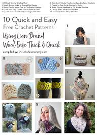 Lion Brand Free Crochet Patterns Impressive 48 Quick And Easy Free Crochet Patterns Using Lion Brand Wool Ease
