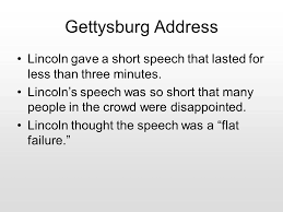 Image result for Lincoln's speech was short,