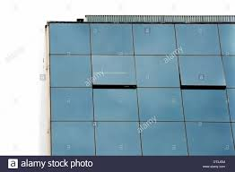 Office Building Glass Facade And Open Windows Modern Architecture