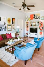 colorful living room ideas. You D Never Guess This Townhouse Was Decorated On A Budget Colorful Living Roomscozy Eclectic Roomsmall Room Ideas