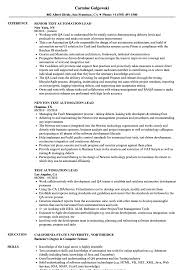 Sample Resume For Selenium Automation Testing Test Automation Lead Resume Samples Velvet Jobs 6