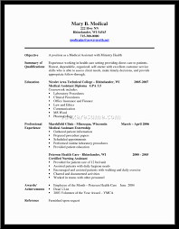 Sample Resume: Sle Resume For Medical Assistant.