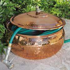 garden hose storage pot. copper hose storage pot - lee valley garden n