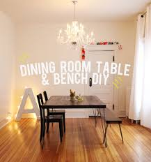 Hairpin dining table Dining Room Dining Room Table And Bench Diy And Then We Saved The Unhandy Mans Guide To Building Dining Room Table Bench