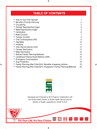 Family Planning Flip Chart Pdf Free Download