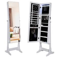 Dressing Mirror Cabinet Jewelry Mirror Armoire And Mirror Jewelry Cabinet Has Two