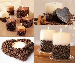 Coffee Beans Candle Holders