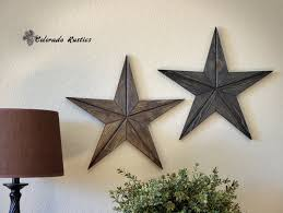 rustic star wood wall art texas star dcor country star