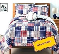 toddler comforter boy sports bedding sets baseball quilt boys twin plaid reversible childrens themed todd