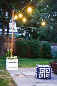 Diy Planter With Pole For String Lights At Charlottes House