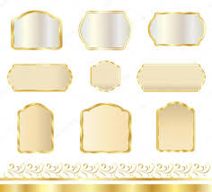 vintage gold frames set set of frames and borders isolated on white background wedding
