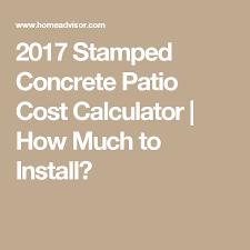 stamped concrete patio cost calculator