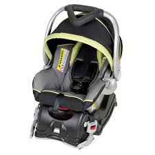 ez flex loc car seat front view black and light green with