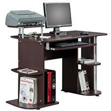 ergonomic home office desk. Ergonomic Deluxe Home Office Computer Desk - Chocolate Brown