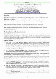 Resume Templates For Assistant Professor Assistant Professor Resume Format Beautiful Professor Resume 1