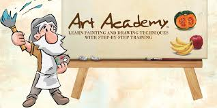 art academy learn painting and drawing techniques with step by step training