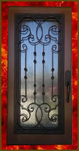 wrought iron inserts opens up to let in the breezes