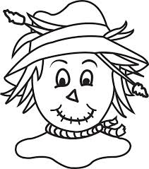 Small Picture FREE Printable Scarecrow Coloring Page for Kids 4
