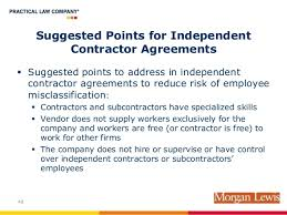 Independent Contractors: Overcoming The Legal Perils And Challenges