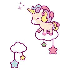 Cute Unicorn And Stars Wall Sticker