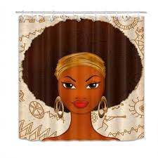 medium size of natural black girl shower curtain woman little erfly female ballerina afro magic set