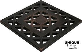 ebbe unique square shower drain grate lattice