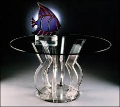 acrylic tables for your choice of unique furniture a round acrylic dining table with an