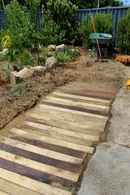 Patio From Pallets Crumbs Wooden Pallet Walkway Footpath Pallet Craft Ideas