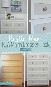 makeover furniture ideas. ikea malm dresser hack for a rustic glam nursery makeover furniture ideas