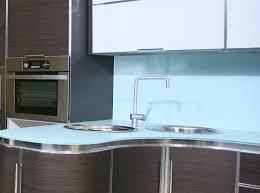 dreamwalls color glass countertop blue matching backsplash kitchen