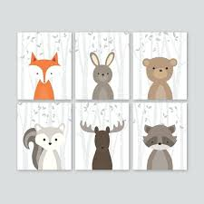 woodland nursery decor baby boy art forest animal bedding uk