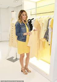 hello sunshine lauren conrad officially debuted her baby p at the launch of her spring